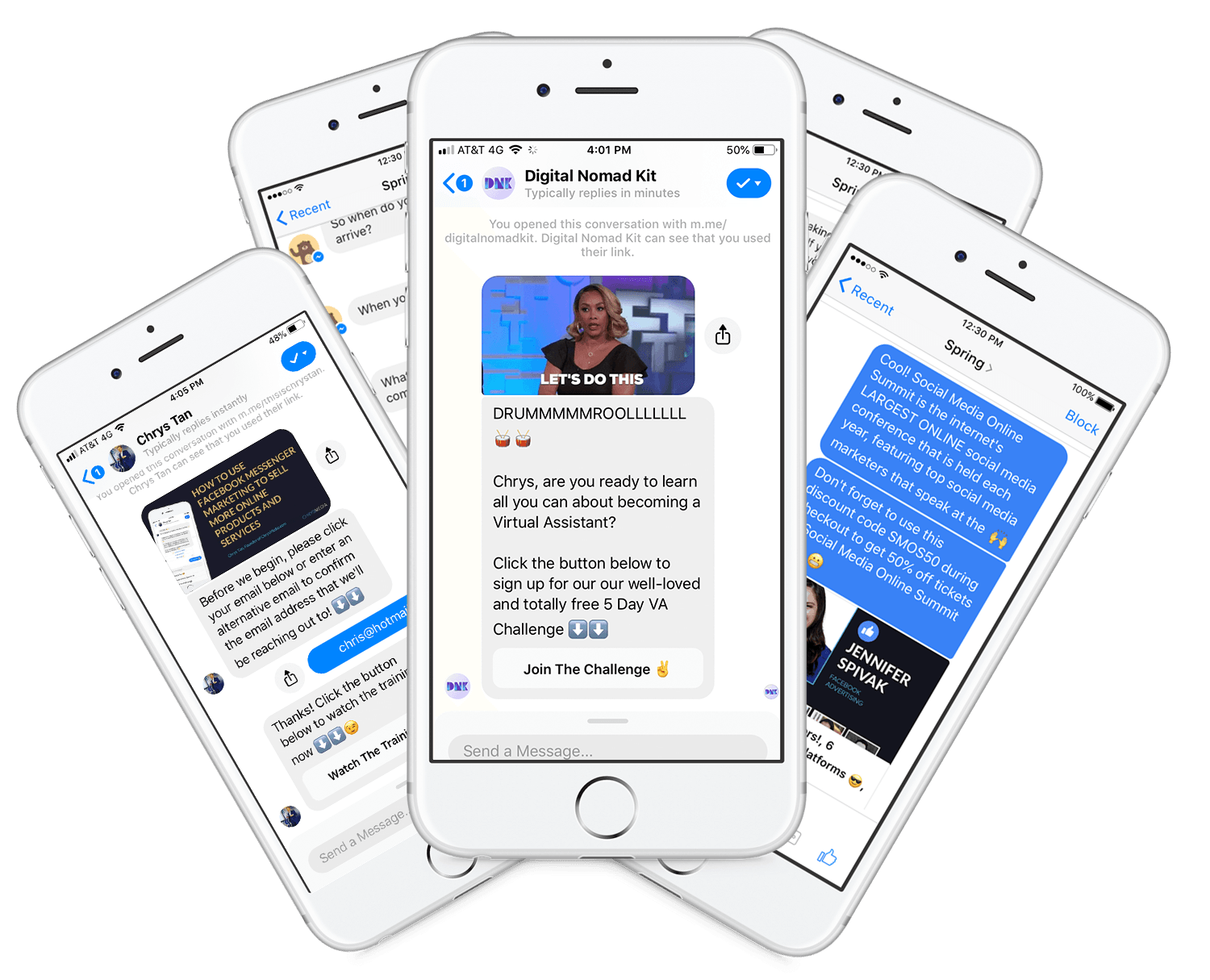 Messenger chatbots